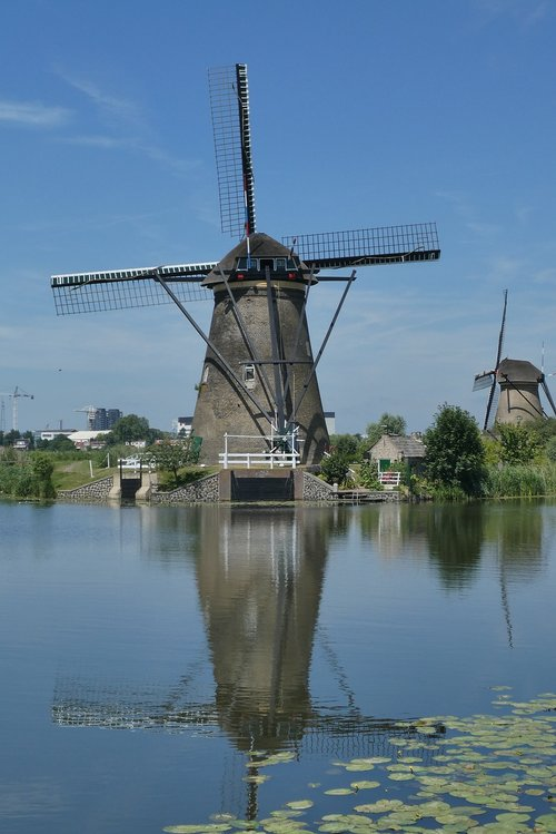 mill  kinderdijk  unesco heritage