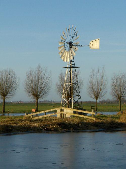 mill landscape friesland