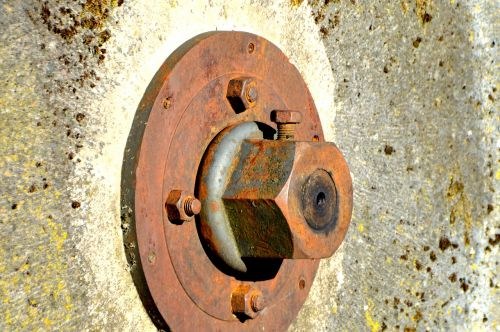 mill wheel screw hexagon nut