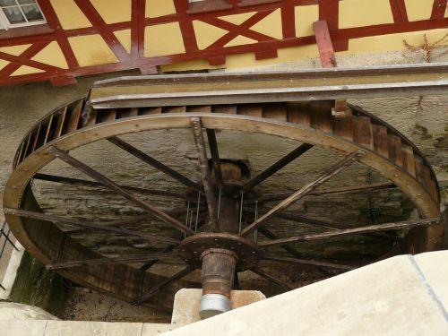 mill wheel water castle mill