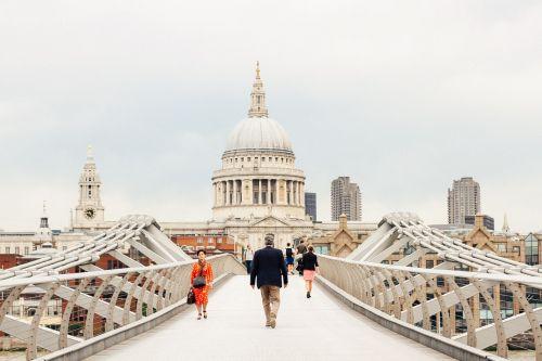 millenium bridge st pauls cathedral london