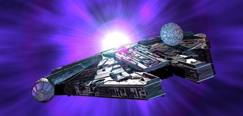 millennium falcon star wars spaceship