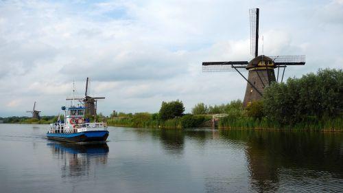 mills windmills kinderdijk