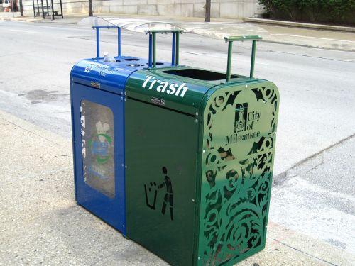 milwaukee trash trashcan