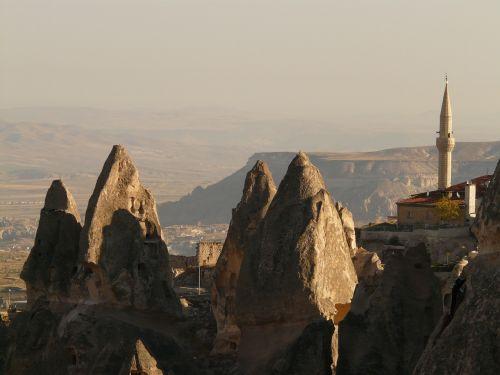 minaret fairy chimneys uchisar