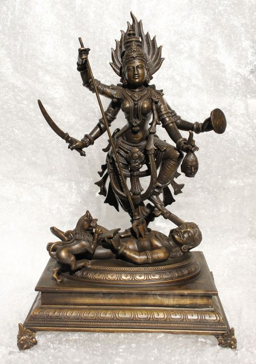minature bronze goddess dussehra