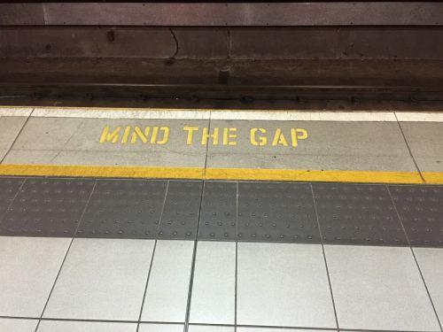 mind the gap underground london