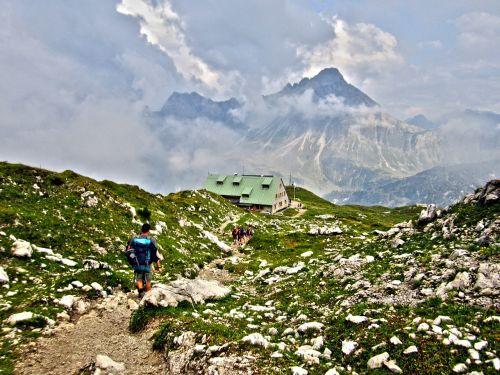 mindelheimer hut allgäu alpine