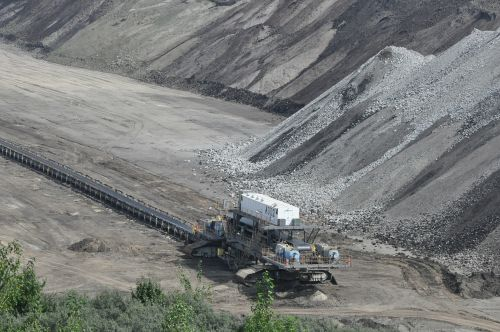 mine archaeological site heap