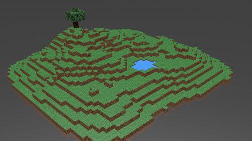 minecraft island blender