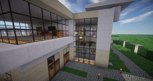 Minecraft,architektūra,moderni architektūra,modernus namas,eksterjeras,diena,pusė