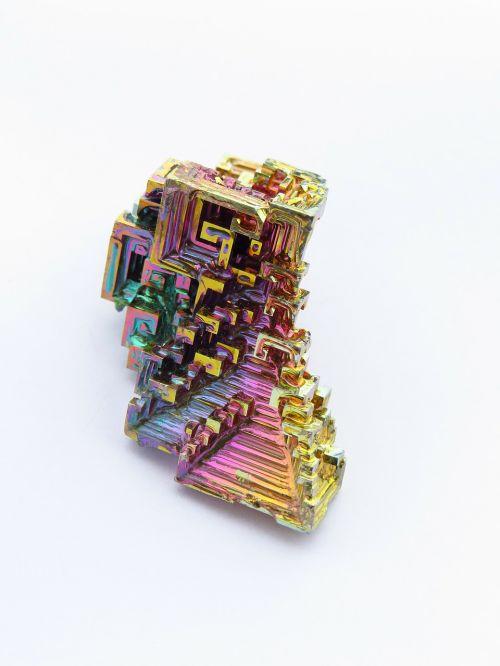 mineral iridescent bismuth