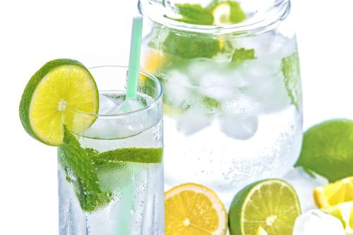 mineral water lime ice