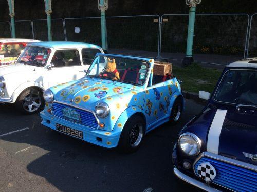 mini mini car car rally