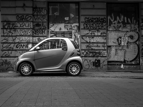 mini car  car  black
