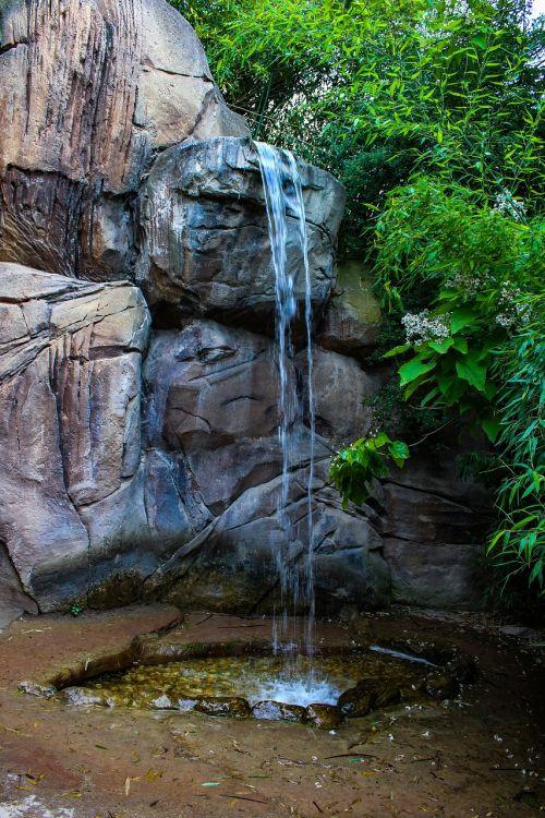 mini waterfall nature beauty