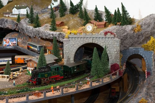 miniature railway railway workers