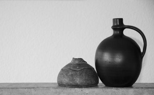 minimal vases nero