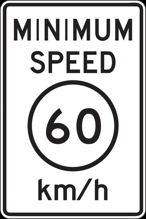 minimum speed 60