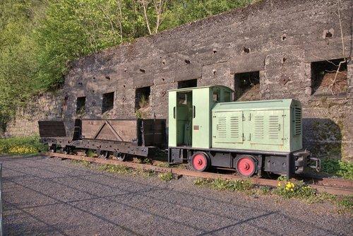 mining railway  loco  towing vehicle