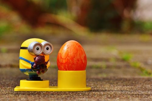 minion easter egg cups