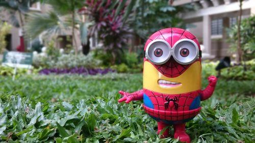 minion spiderman toy