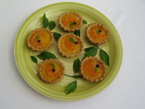minitartas custard tangerine pastry