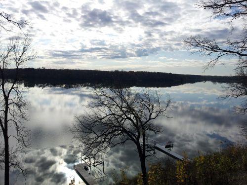 minnesota blue lake reflection