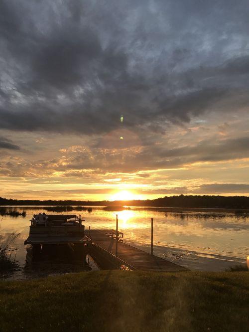 minnesota sunset sunset water