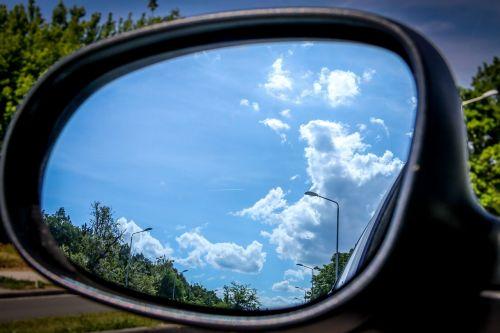 mirror reflection sky