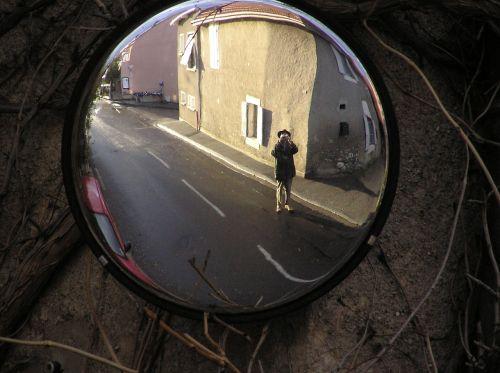 mirror unusual self-portrait