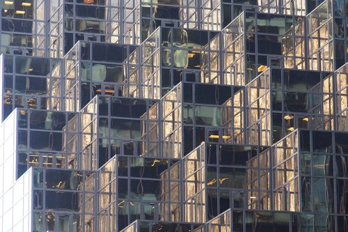 mirroring  facade  building