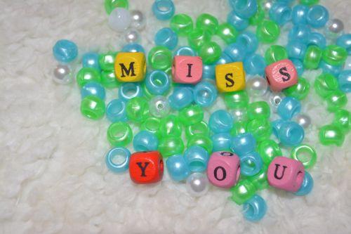 Missing You Beads Broken Heart