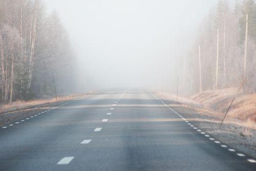 migla,kelias,ankstus rytas,vienas,rytas,saulėtekis,šaltis,norrbotten
