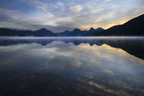 Mist Rising From Lake McDonald