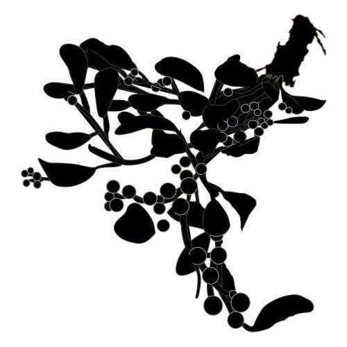Mistletoe Silhouette