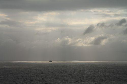 misty deep sea ocean