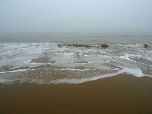 Misty Horizon Ocean Seashore