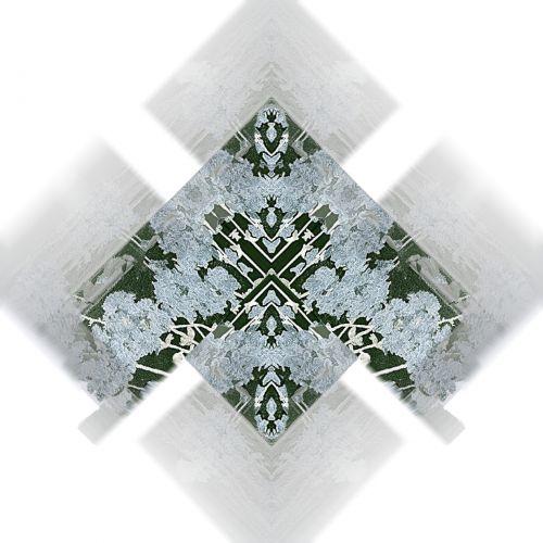 Misty Oriental Floral Tile