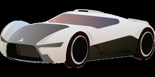 mitsubishi racing car car