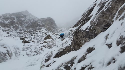 mixed-climbing ice climbing climb