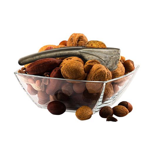 mixed nuts glass isolated