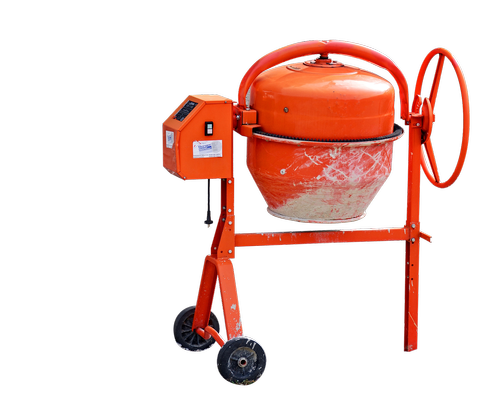 mixer  concrete mixer  orange