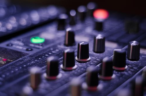 mixer knobs panel
