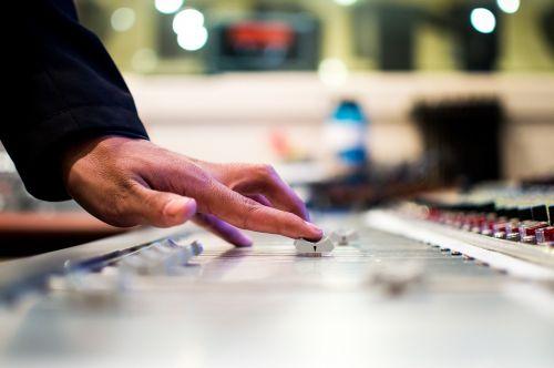 mixing desk mixer slide control