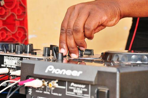 mixing desk disc jockey mix