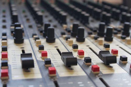 mixing desk music mixing