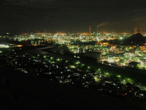 mizushima industrial complex night view