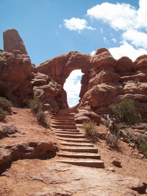 moab arches national park rock formation
