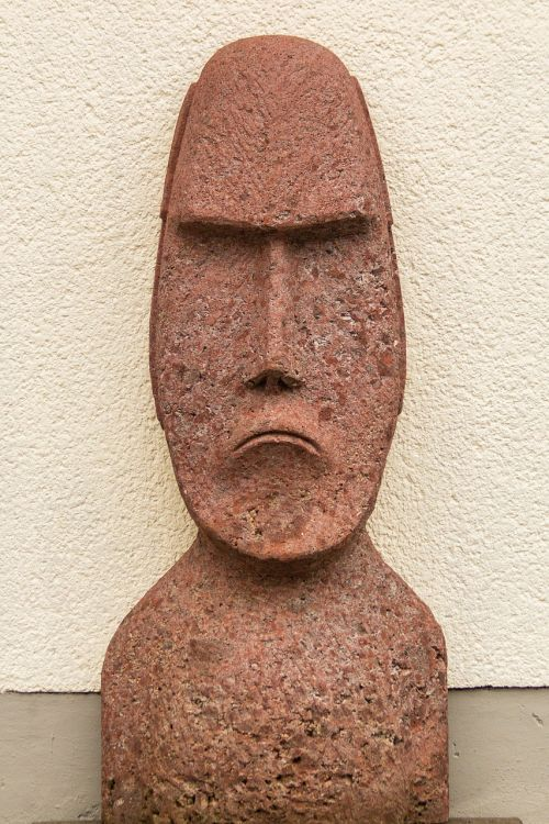 moai sculpture head plastic